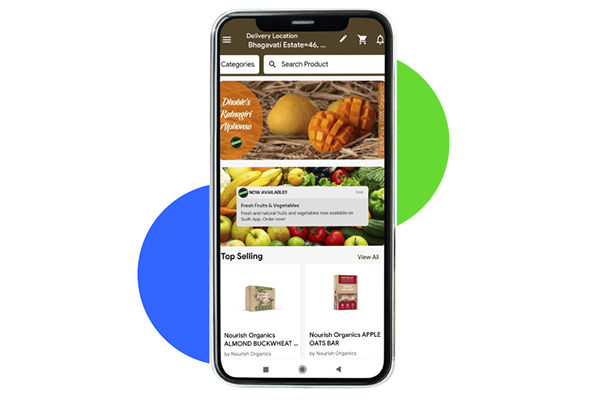 Sudh – On-demand Grocery Mobile App
